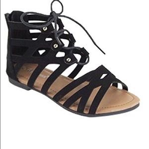 Other - The Layla in Black Low Glad Sandal - Child Size